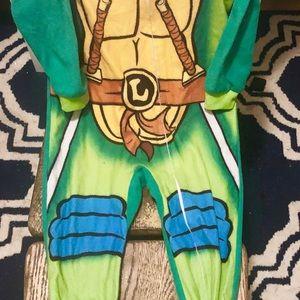 Nickelodeon Pajamas - 3T Ninja Turtle Leonardo Fleece Onesie PJ
